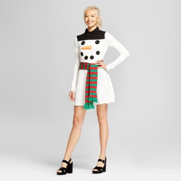 e6004c7da71 Xhilaration snowman frosty sweater dress christmas